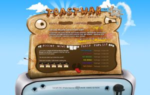 Webdesign - 'Toast War' by CybertronicStudios