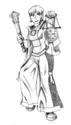 Alcyone the Half-Elven Cleric by brianl03