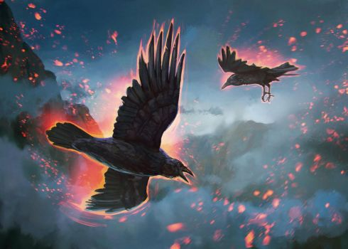 Huginn and Muninn by blewzen