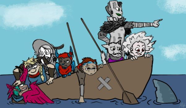 Draw the Squad- Pyre friend-ship by SableGear