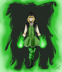 Emerald Flame- Commission by sodonelite