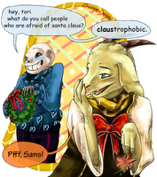 [Undertale] Christmas puns by Sophie-Dragon
