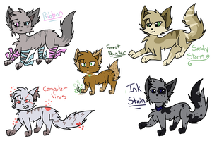 Cat Adopts Bunch #1 (CLOSED) by XWintersBladeX