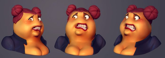 Patri Face 07 by polyphobia3d