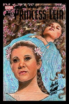 Princess Leia Marvel Cover by AngelinaBenedetti