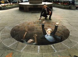 Chalk Drawings of J.Beever by Alien-Intercourse
