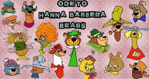 Ode to Hanna Barbera Bears by slappy427