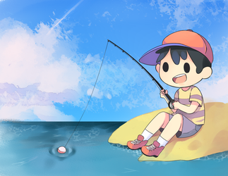 Fishing by Drawn-Mario
