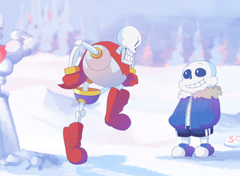 papyrus is stomping by Nifty-senpai