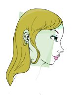 Pierced profile girl- Vectored by Dypritee