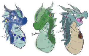 My SeaWing OCs by Drop-the-Based