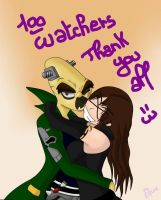 100 Watchers, Thanks To All !!! :3 by NitrusBrio68
