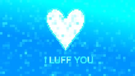 I Luff You - minimalist wallpaper by GintasDX