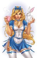 Zenescope AliceInWonderland, pencils: P. Pantalena by ulamosart
