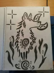 Art Class Assignment: Spray Paint Stencil Drawing by Erick-the-Druid