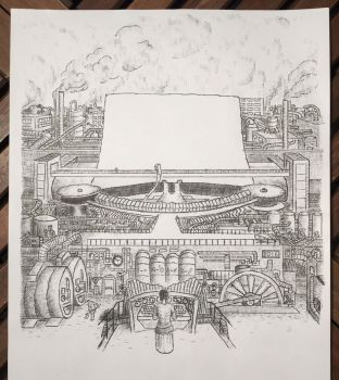 Yet another giant steam-driven Typewriter... by lordnkon