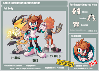 Sonic Character Commissions! [OPEN] by Nomnomroko