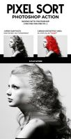 Pixel Sort Photoshop Action by hemalaya