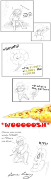 Undertale: NEVER trust a talking flower! by Lauretta-89