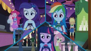 Rainbow twilight and rarity in phones by Gouhlsrule