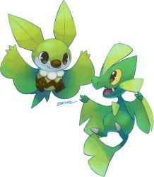 Flying Leafy Friends by zerudez