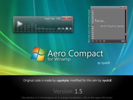 Aero Compact 1.5 for Winamp by nyolc8