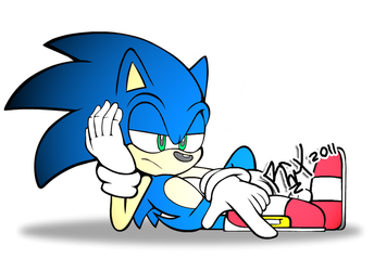 Sonic bored by RGXSuperSonic