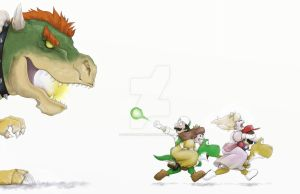 Bowser Chase by FieryStampede