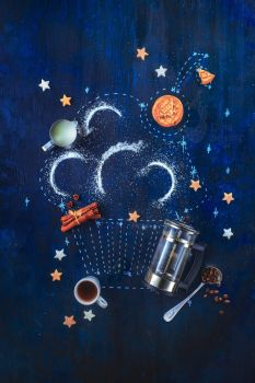 Cupcake constellation (with a French Press) by dinabelenko