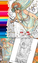Coloring Page - Lady of October by AngelaSasser