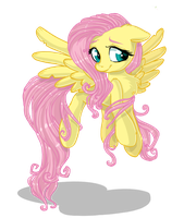 Fluttershy ::WITHOUT BACKGROUND: by AnthoCat