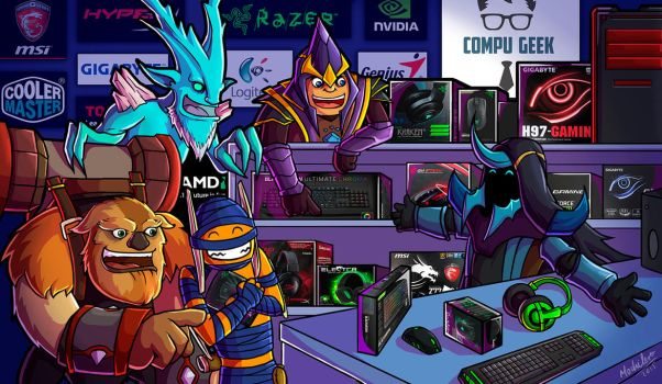 Gamer Shop Fan Art Dota para Compu-Geek by MochileroArt