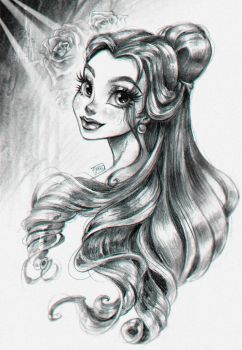 Belle, Beauty and the Beast by darkodordevic