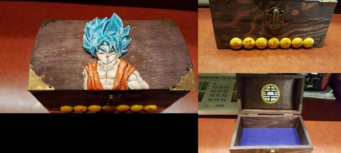 Goku custom trinket box for customer by Secretvixen