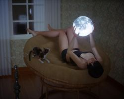 Under the moon lamp by pnn32