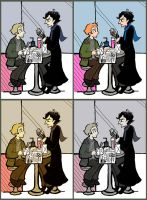 Sherlock and John Eating by elina-elsu