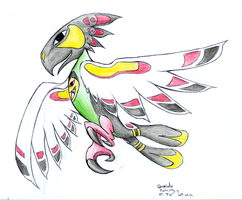 Quaxiatu -Fakemon- by Coloursfall
