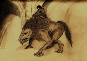 Ride the Warg by Eric-Lecarde