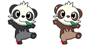 Pokemon #674 - Pancham by Fyreglyphs
