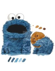 Cookie Monster by kartoonista