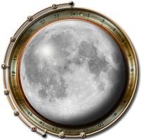 Steampunk Moon Icon by yereverluvinuncleber