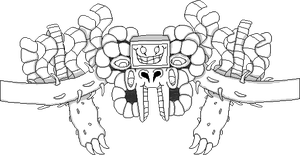 OFF Styled Omega Flowey sprite by Addicted2Electronics