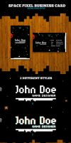 Space Pixel Business Card Template by odindesign