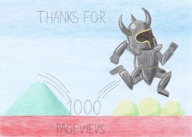 Thanks for 1000 Pageviews by Schwarzer--Ritter