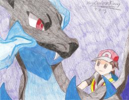 Mega Charizard X and Red by MegaCharizardSong