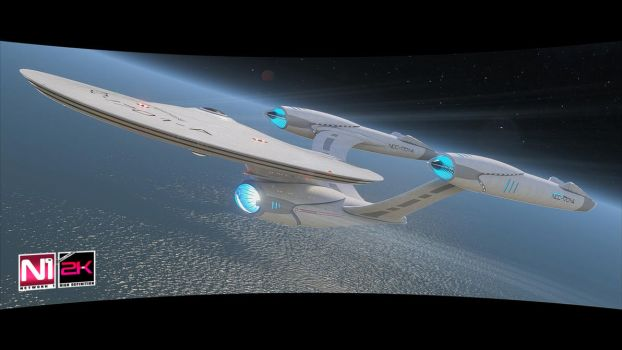 USS Enterprise NCC-1701-A CINEMATIC-FILMS render 1 by calamitySi