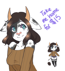 Adoptable cow lady: Closed by MochaMeadow