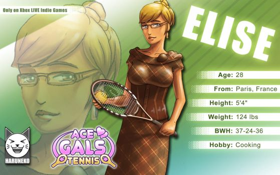 Elise from Ace Gals Tennis by giocchan