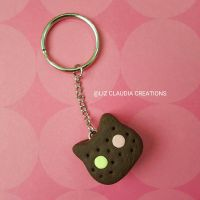 Cookie Cat Keychain by LizClaudia