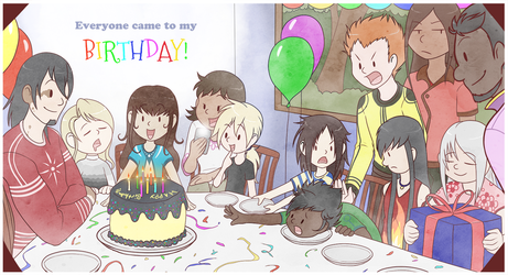 Children's Book - Birthday Party by shorty-antics-27
